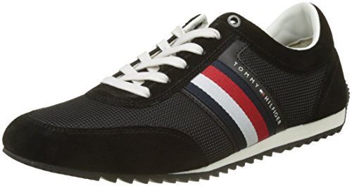 Tommy Hilfiger Corporate Material Mix Runner, Zapatillas para Hombre, Negro (Black 990), 41 EU