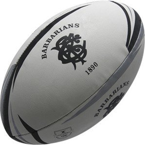 Gilbert Barbaren Kopie Rugby Ball - Weiß, Mini Größe 1