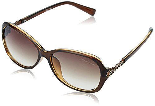 LOUIS SMIT UV Protected Butterfly Women\'s Sunglasses - (LS105 C1|57|Brown Gradel Color)