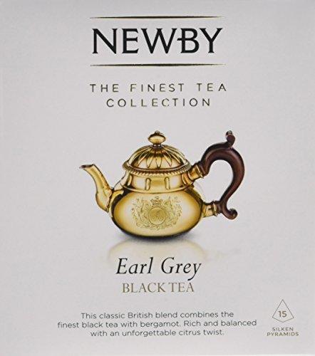 Newby Teas Silken Pyramids Earl Grey Black Tea 38 g (Pack of 1, Total 15)