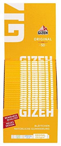 gizeh 411110001Originale Breve 50Libretti x 50cartine cellulosa