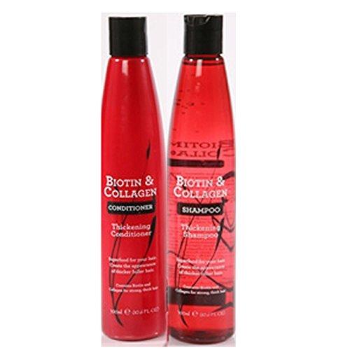 Biotin & Collagen Haarverdichtungs-Shampoo, 400ml, inkl. Biotin- und Kollagen-Pflegespülung, 300ml