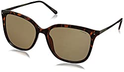 Polaroid Polarized Square Womens Sunglasses - (PLD 4043/S NHO 57IG|57|Brown Color)