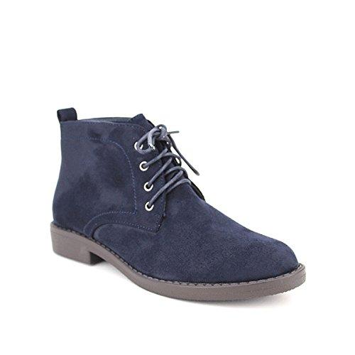 Cendriyon, Bottine Blue simili peau RIAN'S Chaussures Femme Bleu