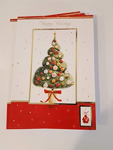 Holiday Christmas Tree (Urlaub Weihnachtskarten Set der 28-Vielzahl an 4.5 in x 6.5 in Happy Holidays Christmas Tree)