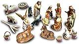 Oelbaum Hochwertige Krippenfiguren von BTV 17 -TLG. Set, mit feiner Mimik, KFM-