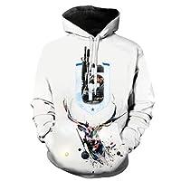 Rainbow Six Siege pullover 3D-print heren sweatshirt met capuchon voor heren met kangoeroezak (8,L)