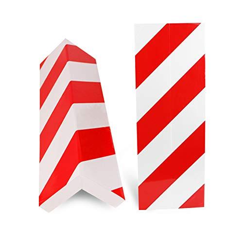 BUZIFU 2pcs Protección para Parachoques, Espuma para Golpes, Las Franjas Rojas y Blancas, Protectores para Esquinas de la Columna del Garaje, para Cualquier Persona que Quiera Evitar el Temido Arañazo