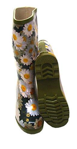 Bottes en caoutchouc de marguerites et fleurs pour femme Multicolore - Bunt
