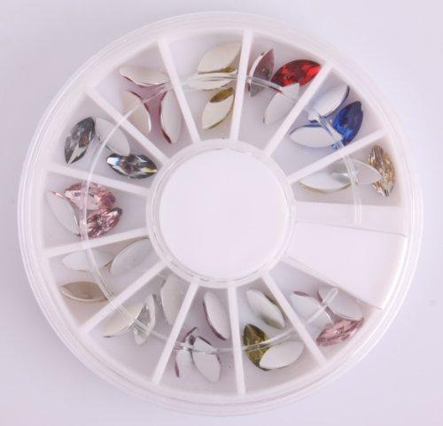 Nails Gaga 2 Wheel 3d Nail Art Tips/Glitters Rhinestones Beads Nail decorations by Nails gaga