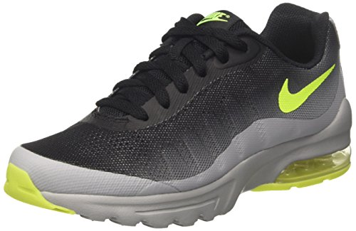 Nike Kids Air Max Invigor (GS) Running Shoe, Grey / Black /...