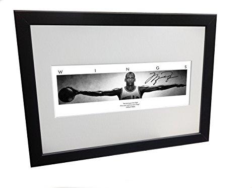 Michael Jordan WINGS Autogramm-Bilderrahmen, 30,5 x 20,3 cm, A4 Chicago Bulls Basketball -