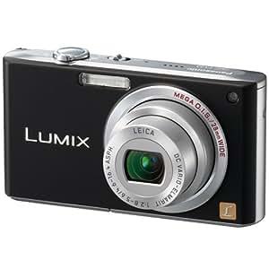 Panasonic Lumix DMC-FX33EB Digital Camera - Black (8.1MP, 3.6 x Optical) 28mm Wide-Angle Lens