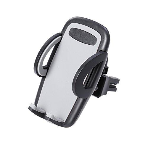UKCOCO Auto Air Vent Phone Mount Halter, Universal 360 Grad drehbarer Handyhalter für iPhone X 8 8 Plus 7 7 Plus SE 6 s 6 Plus 6 5 s 5 4 s 4 Samsung Galaxy S6 S5 S4 und mehr (grau)