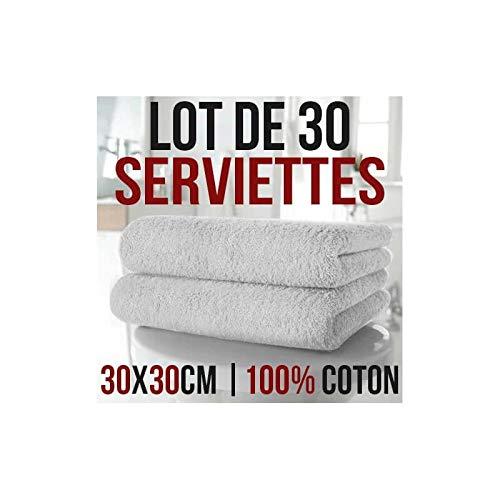 NatureMark NM-HT0816 Lot de 12 Serviettes pour invit/és 30 x 50 cm 100/% Coton Anthracite//Gris