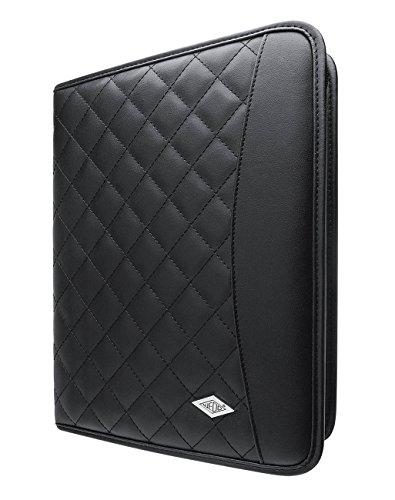 Wedo 5873911 Tablet Organizer Amiga, Universalhalter für 9,7 - 10,1 Zoll, Präsentationsständer, inkl. A5 Schreibblock, schwarz