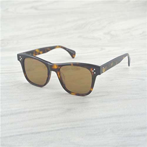 LKVNHP Hohe Qualität Männer Retro Sonnenbrille Frauen Vintage Ronud Sonnenbrille Frauen Brille Polarisierte Sonnenbrille Männer VsGrün