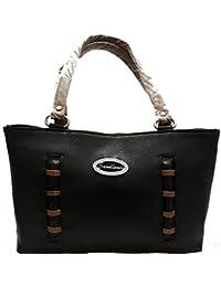 Ranbed Womens Leather Handbag_Black