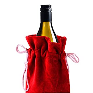 ARA DECOR Wine Bottle Cover Red (Set of 6)