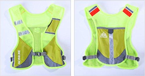 Imagen de aonijie  chaleco y  de hidratación ligero, para actividades al aire libre, senderismo, maratón, escalada, ciclismo, con 2 botellas de 250 ml , verde alternativa