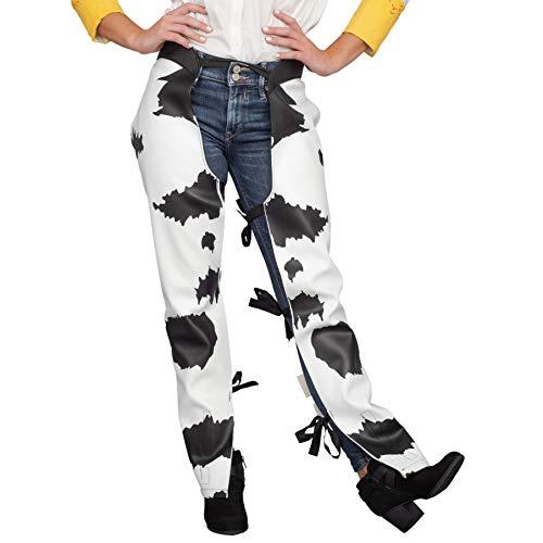 Toy Jessie Story Girls Kostüm - Cowboy Cowgirl Jessie Chaps Adult Halloween Costume Accessory White