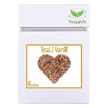 Loser-Rooibos-Tee-von-TeaLaVie-TeaLi-Vanilli-edle-Vanille-Rotbusch-Tee-lose-in-edler-Teedose-fr-Teeliebhaber-ideal-als-Geschenk-und-Dankeschn-100g-Dose