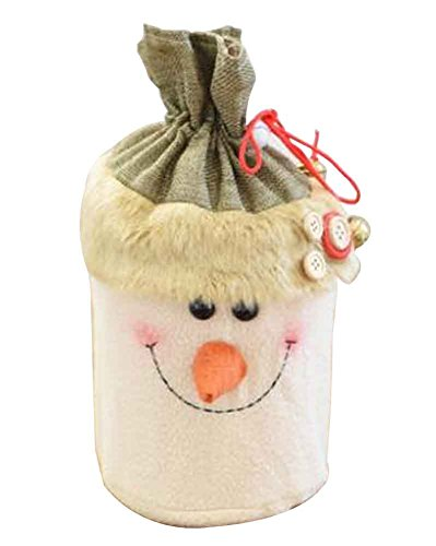 Sacchetto regalo di natale con decorazioni natalizie sacchetto regalo con sacchettino di mele [k]