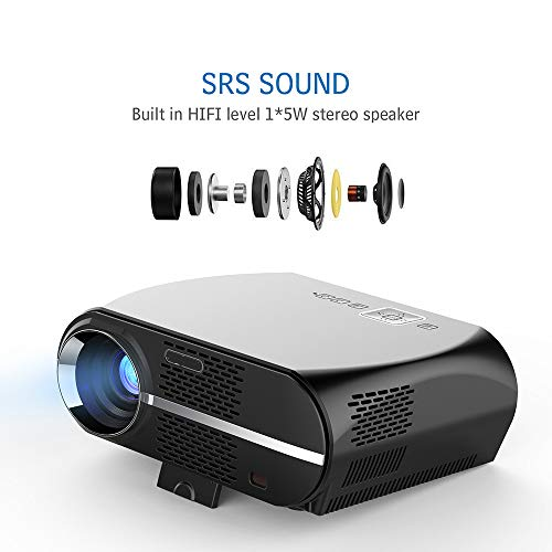 ZMM GP100-Projektor HD Android 1080P 1800 lumens tragbare LCD-LED-Projektor Business Office Unterricht Home Theater USB HDMI 3D-Projektor Subwoofer