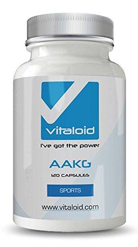AAKG L-Arginina Vitaloid - 100% arginina alfa-chetoglutarato - PRE-WORKOUT IDEAL - Premium 120 capsule Arginina - L'arginina permette la creazione di energia utile da carboidrati, grassi e proteine - supplemento sportivo per l'esercizio intenso. Arginina superiore qualità volumizzante i muscoli rapidamente. AAKG è una forma di L-arginina aumenta il flusso di sangue e aumenta la pompa durante l'allenamento. la AAKG è un precursore di ossido