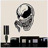 Venom Sticker Venom Vinyle Autocollant Mavel Comics Mur Art Affiche Animée Affiche Garçons Chambre Stickers Muraux57x83 cm