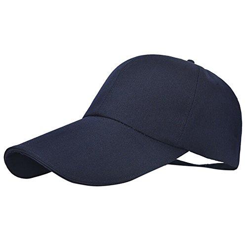 Cocila Damen Herren Unisex Fashion Classic Solid Color Adjustable Baseball Cap Fashion Hip-Hop Shade Sun Hat Gr. Einheitsgröße, Navy
