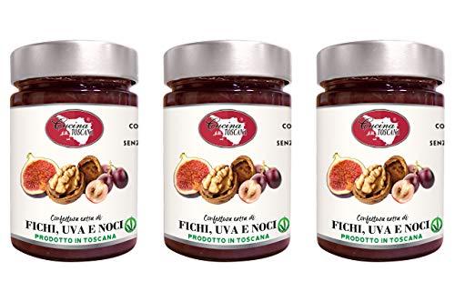Confettura extra di Fichi Uva e Noci 3x320g Qualità Artigianale Cucina Toscana
