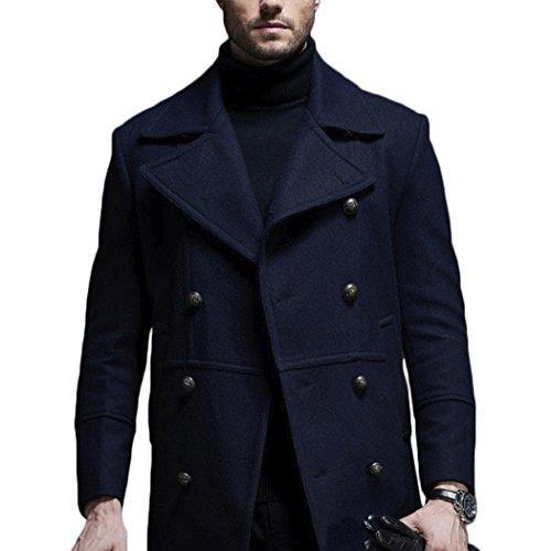 MESE London - Blouson - Moderne - Homme Bleu Marin