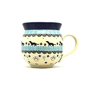 Polish Pottery Mug – 11 oz. Bubble – Diggity Dog