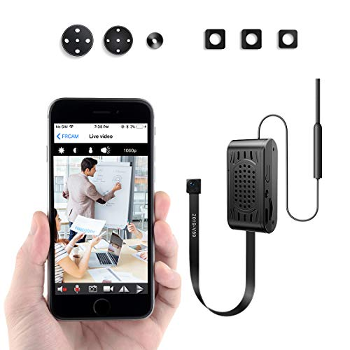 Mini Camara Espia FREDI/Cámara Oculta HD 1080P Spy Mini WiFi Cámara P2P Portátil Inalámbrico/Detección de Movimiento Cámara de Vigilancia Camaras de Seguridad/Interior/Exterior