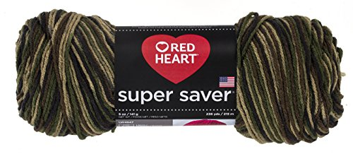 Coats Garn, Rot Herz Super Saver yarn-camouflage, andere, mehrfarbig (Herz Camouflage)