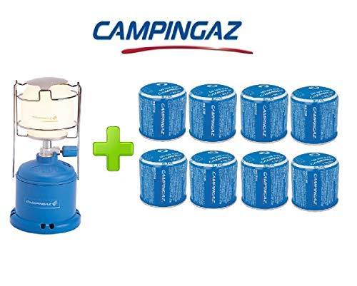 ALTIGASI Lanterne Lampe à gaz Camping 206 l 80 W + 8 pièces Cartouche à gaz Campingaz C206 GLS