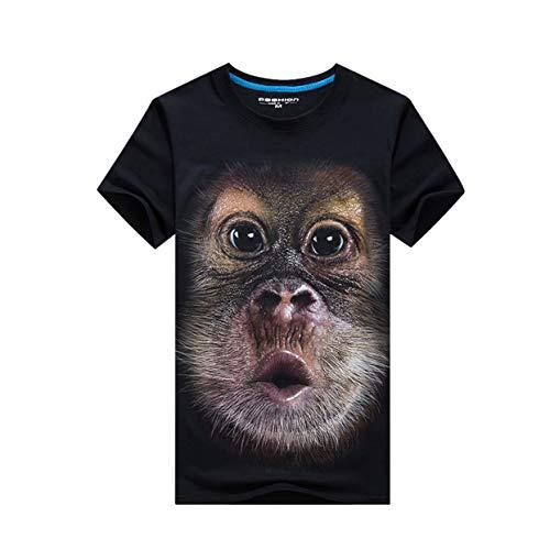 Fashion Pop Art Monkey T-shirt Men Funny Gorilla Print Short Sleeve Tees Funny Clothing Casual Short Sleeve T Shirts Shrink-Proof Tops & Tees Men's Clothing