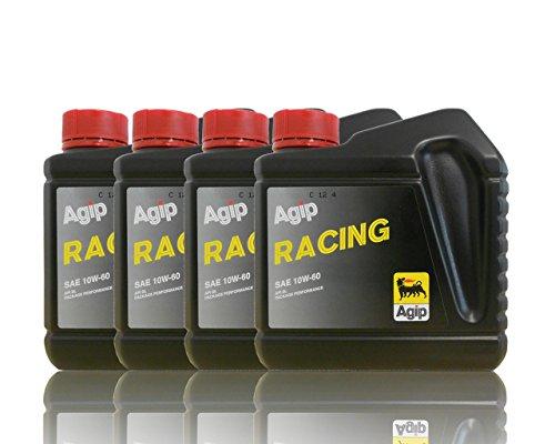 Agip Racing huile de moteur SAE 10 W de 60 4 x 1 L