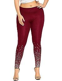 Felz Leggings Deporte Mujer, Pantalones Elásticos Deportivos para Mujer Cintura Alta Delgados para Training Running Yoga Fitness Pantalones de Estampado de Estrellas Tamaño Grande