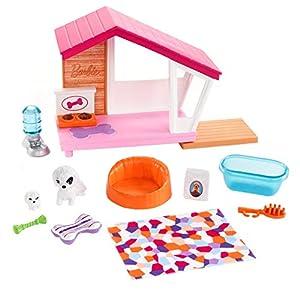 Barbie Muebles de interior, accesorios para los perritos y las mascotas de las muñecas (Mattel FXG34)