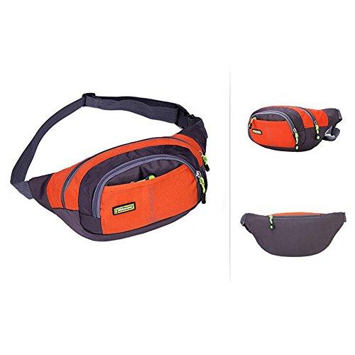 moyun Taille Taschen Wasserdichte Unisex-Running Gürtel Bum Camping Sport Wandern Zip Bag 8Farbe Orange