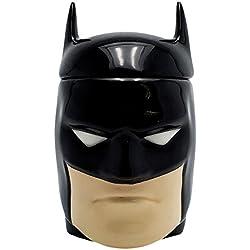 taza Batman 3D con tapa 300ml DC Comics negro de cerámica