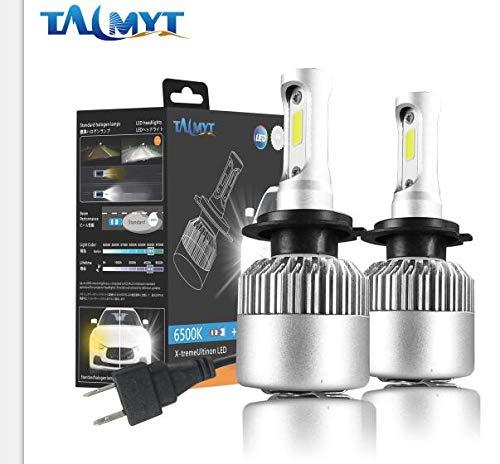 Lampadine H7 LED Kit Conversione Lampadine Faro Auto 72W 8000LM 6500K Bianco Lampade - H7