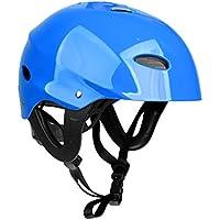 MagiDeal Casco de Seguridad con Correa Ajustable para Kayak Canoa Surf Bueco Accesorio para Deportes Acuáticos - Azul