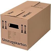 BB-Verpackungen 100 x Umzugskarton PROFI 600 x 328 x 340 mm (stabil 2-wellig, belastbar bis 40 kg, recycelte Pappe…