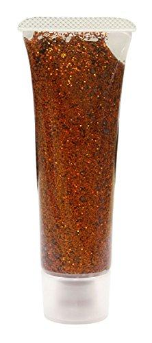 Eulenspiegel 907139 - Effekt Glitzergel 18 ml, Orange - Juwel