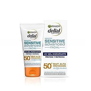 Garnier Delial Sensitive Advanced Crema Facial Hidratante Textura Gel Alta Protección Solar IP50+ – 50 ml