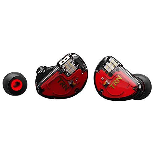 Yowablo Ear HiFi SIX-Unit Ring Eisen Kopfhörer Telefon Mobiles Subwoofer-Fernbedienungs-Headset (ohne Weizen) ( Schwarz )