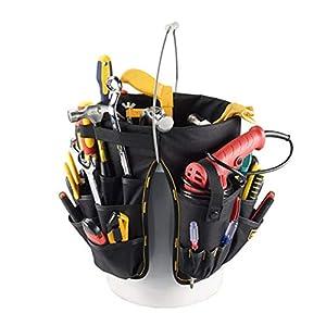 41Tk64vmcVL. SS300  - ZRK Multi-Herramienta Cubo Bolsa Electricista Lona función Bolsa Kit de reparación portátil Kit de construcción Puede ser Libre para Llevar Obra Sitio Necesario